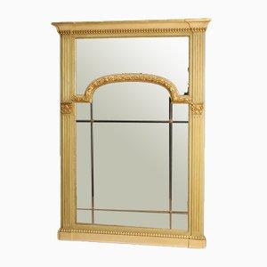 Espejo italiano estilo Louis XVI de madera lacada y dorada, años 70