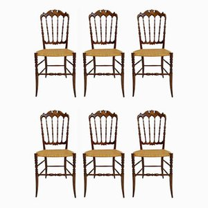 Dining Chairs by Chiavari Campanino for Chiavari Campanino, 1950s, Set of 6