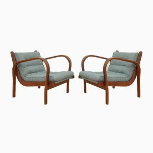 Vintage Lounge Chairs by Kozelka & Kropacek for Interier Praha, Set of 2