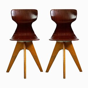 Pagwood and Beech Children's Chairs by Adam Stegner for Flötotto, 1960s, Set of 2