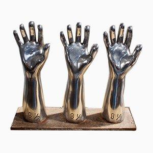 Französische Handschuhformen aus Aluminium, 1950er