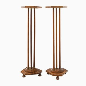 Antique Hexagonal Pedestals, Set of 2