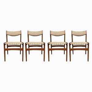 Mid-Century Danish Dining Chairs, Set of 4