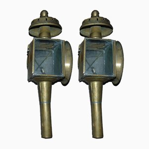 Antique Carriage Lamps, Set of 2