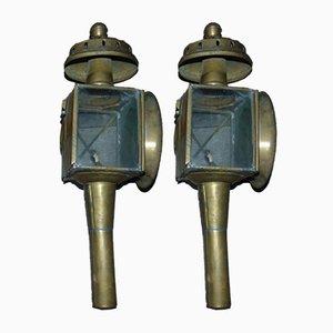 Lámparas Carriage antiguas. Juego de 2