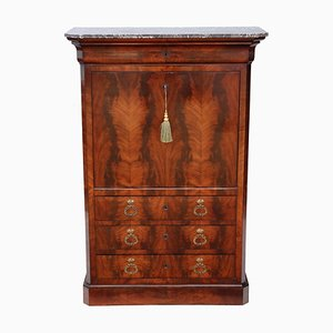Antique Flame Mahogany Bureau Dresser