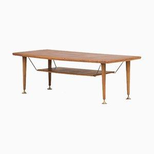 Table Basse en Teck par A. A. Patijn pour Zijlstra Joure, Pays-Bas, 1950s