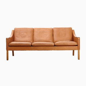 Mid-Century Model 2209 Leather Sofa by Børge Mogensen for Fredericia