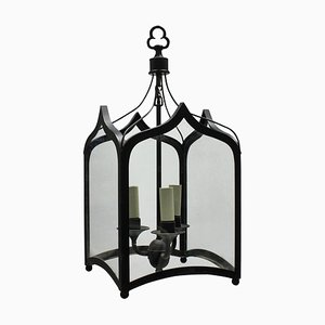 Gothic-Style Iron Ceiling Lamps, 1960s, Set of 2