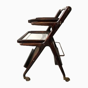 Mahogany Trolley by Cesare Lacca, 1950s