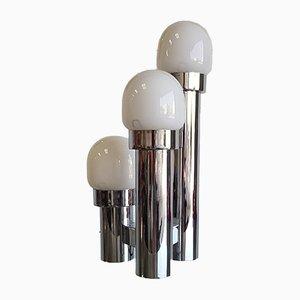 Apliques de cristal blanco, años 70
