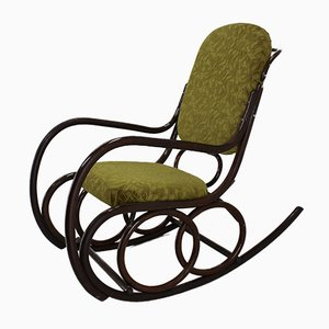 Beech Bentwood Rocking Chair from TON, 1960s