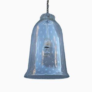 Vintage Deckenlampe mit Schirm aus klarem Muranoglas von Barovier
