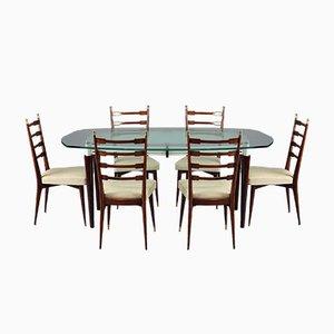 Table et 6 Chaises de Salle à Manger Vintage, Italie, 1960s