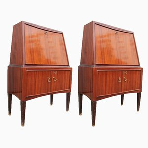 Vintage Mahogany and Rosewood Cabinets by Paolo Buffa, Set of 2