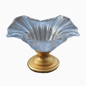 Cuenco italiano vintage de vidrio esmerilado