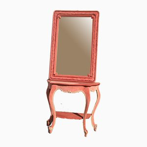 Mesa consola vintage con espejo de Giuseppe De Vivo