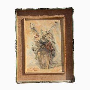 Peinture à l'Huile par T. Rossi, 1940s