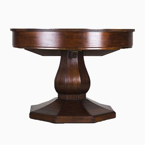 Round Antique Dining Table by Josef Seiler, 1920s