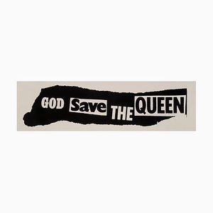 Affiche Promotionnelle God Save The Queen Sex Pistols Original par Jamie Reid, 1977