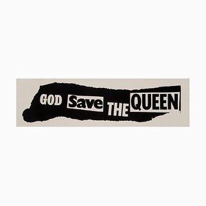 Póster promocional God Save The Queen original de Sex Pistols de Jamie Reid, 1977