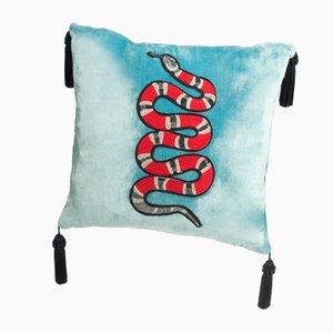 Kissen mit Schlangenmotiv von Dinsh London