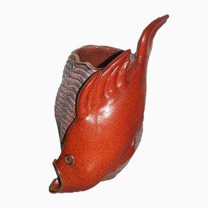 Jarrón italiano vintage de cerámica