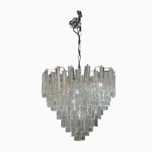 Vintage Clear Murano Glass Chandelier from Venini