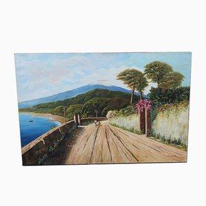 Pintura al óleo vintage de Ciulla