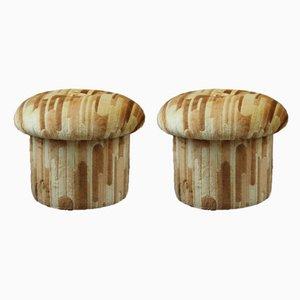 Vintage Mushroom Stools, Set of 2