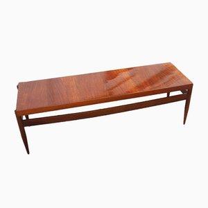 Mesa de centro vintage rectangular de nogal