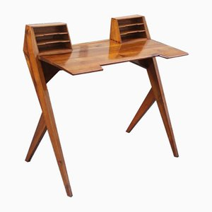 Vintage Italian Walnut Desk by Gio Ponti