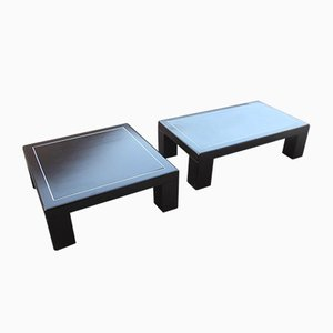 Italian Aluminum Coffee Tables, 1970s, Set of 2