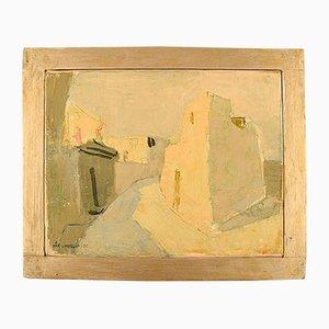 Pittura ad olio di Pär Lindblad, anni '50