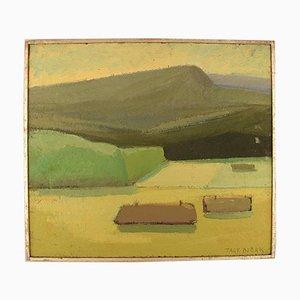 Pittura ad olio vintage di Tage Björk
