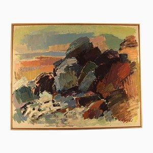 Pintura al óleo de Gustaf Höglund, 1966