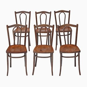 Antique Bentwood Kitchen Dining Chairs, Set of 6