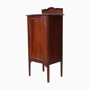 Antique Inlaid Mahogany Music Cabinet Cupboard