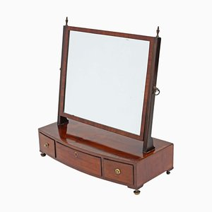 Specchio da toeletta Giorgio III antico in mogano