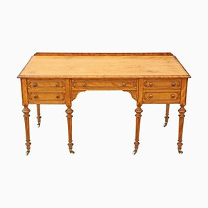Scrivania vittoriana in legno di betulla satinato