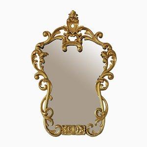 Grand Miroir Mural Antique Doré