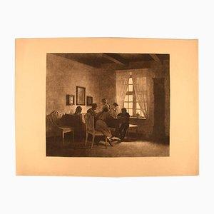 Antikes geätztes Bild von Peter Ilsted