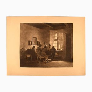 Antique Etching by Peter Ilsted