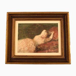 Croquis Pastel Antique par Jules James Rougeron