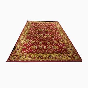 Orientalischer Vintage Teppich aus Baumwolle in Rot & Gold, 1970er