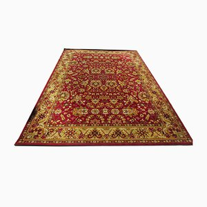 Vintage Middle Eastern Red & Golden Cotton and Wool Carpet, 1970s
