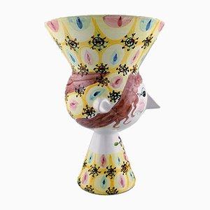 Vaso grande in ceramica smaltata di Bjørn Wiinblad, 1972