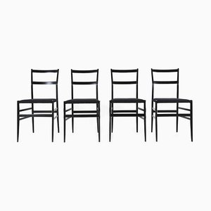Superleggera 699 Dining Chairs by Gio Ponti for Cassina, 1980s, Set of 4