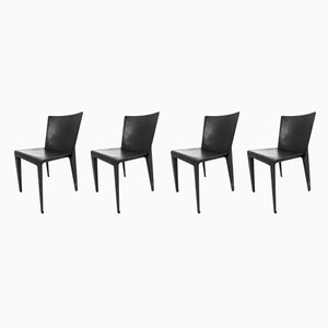 Vintage Alfa Chairs by Hannes Wettstein for Molteni, 1980s, Set of 4