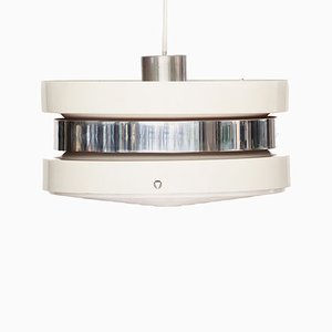Swedish White Lacquered Aluminium Pendant Lamp by Carl Thore for Granhaga Metallindustri, 1970s